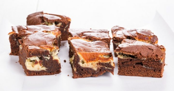 Choc peanut butter cheesecake brownies | Starts at 60