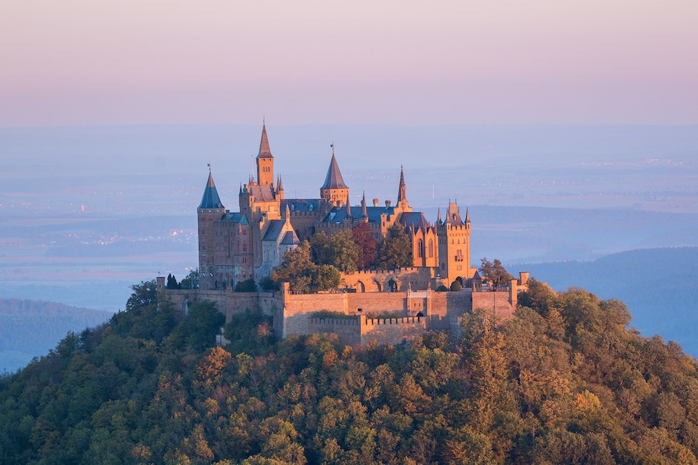 Hohenzollern Castle is perched high in the Swabian Alps