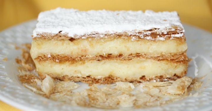 Best vanilla slice on plate