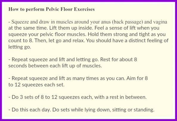 CFA pelvic floor exercises