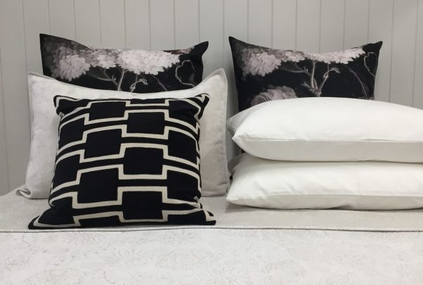 Cushions and pillows.
