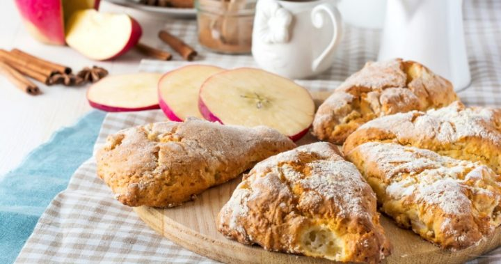 Perfect honey and apple buttermilk scones