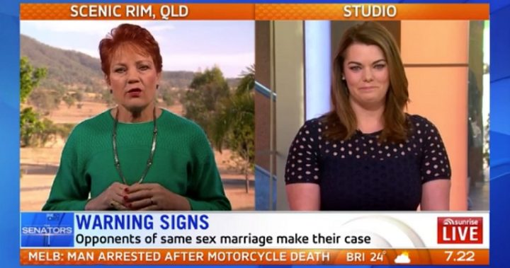 Pauline Hanson and Sarah Hanson-Young a