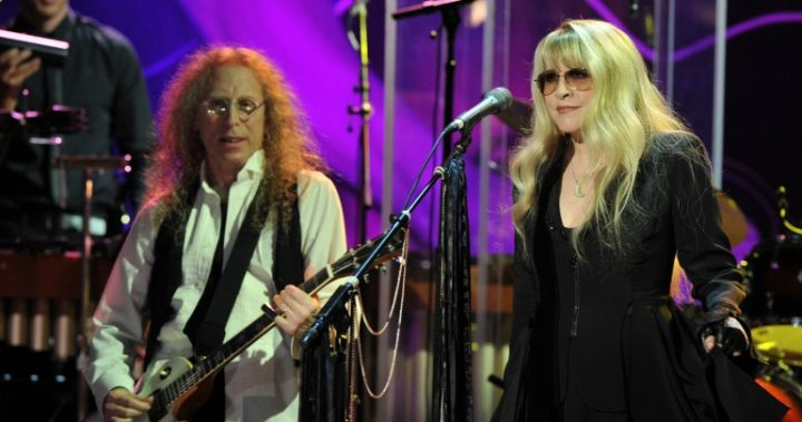 Stevie Nicks and Waddy playing music