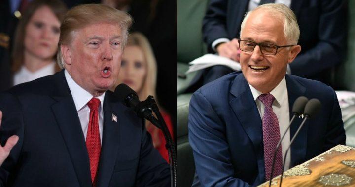doanld trump and malcolm turnbull