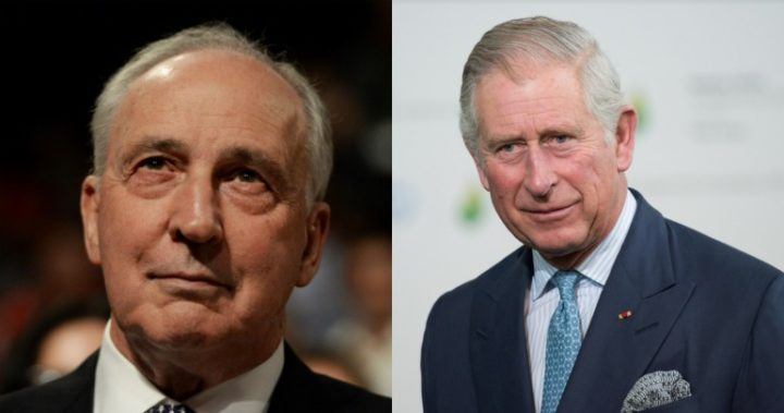 Paul Keating and Tony Abbott clash over 'republican' Prince Charles