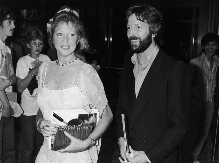 Pattie Boyd And Eric Clapton In 1983 Source Getty