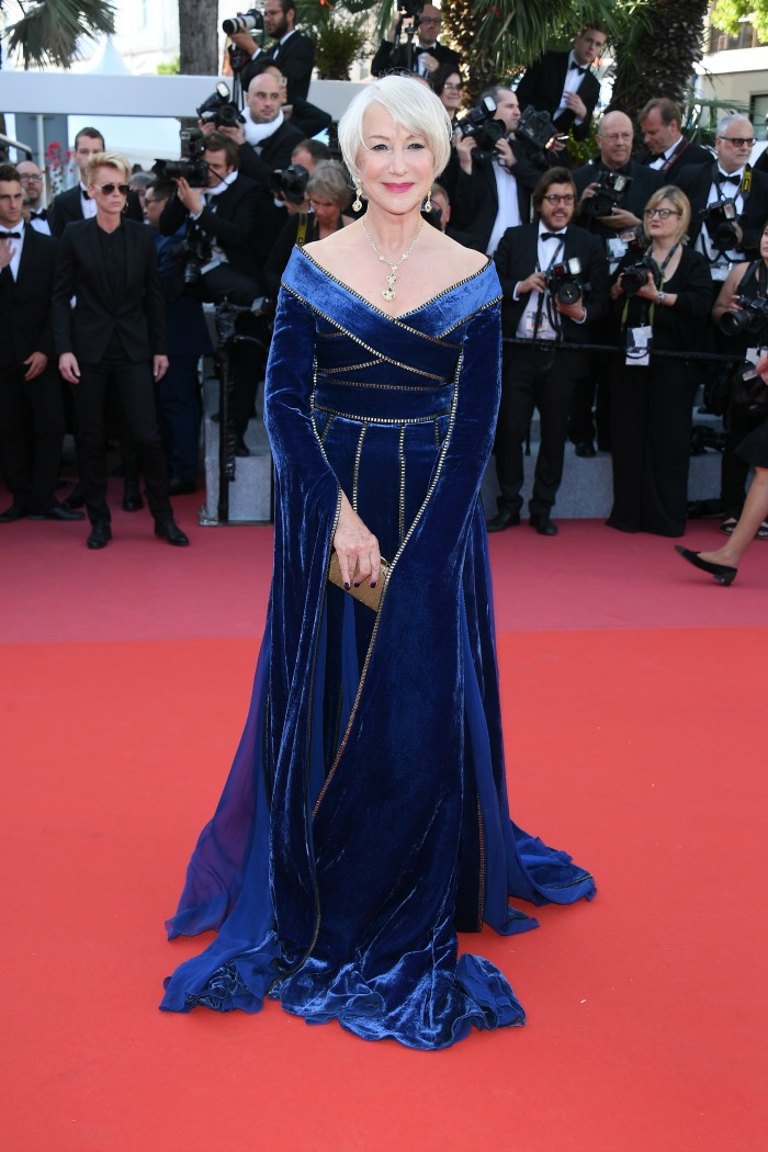 Helen Mirren looked gorgeous in her blue gown at Cannes.