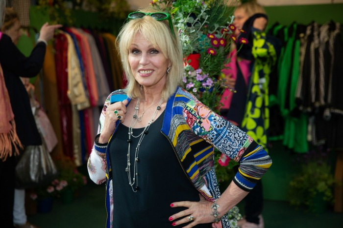 British actress Joanna Lumley at the RHS Chelsea Flower Show.