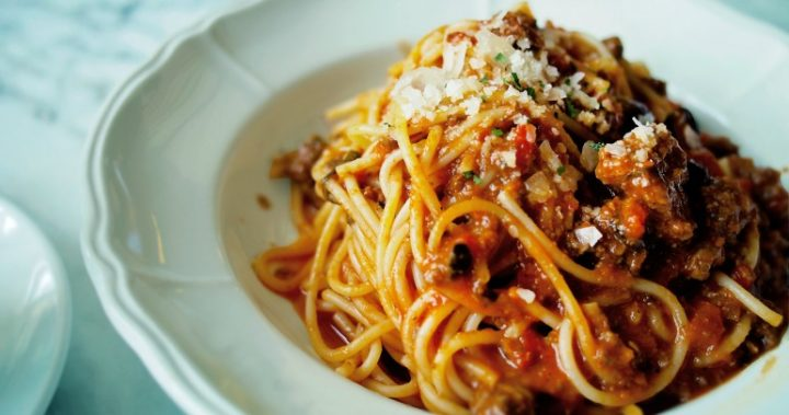 Tuck into a heart bowl of classic bolognese!