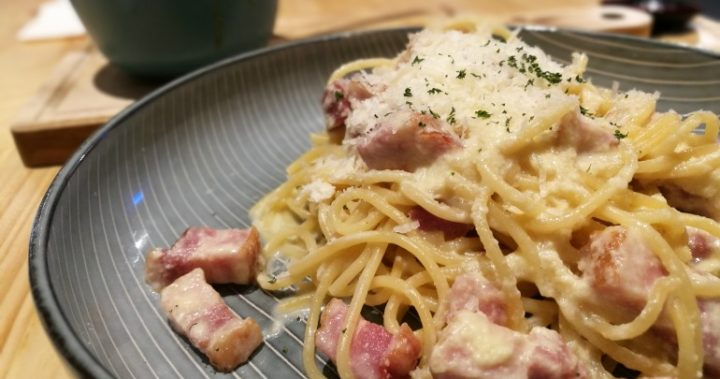 This delicious spaghetti carbonara is sure to warm your belly.