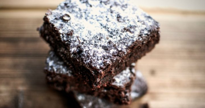 Coconut chocolate brownies; the perfect after dinner treat.