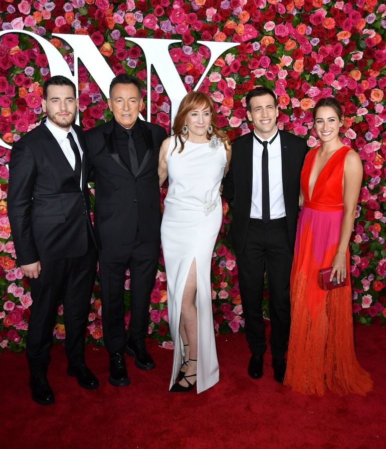 Bruce Springsteen and Patti Scialfa pictured with their children, Evan, Sam and Jessica. Source: Getty