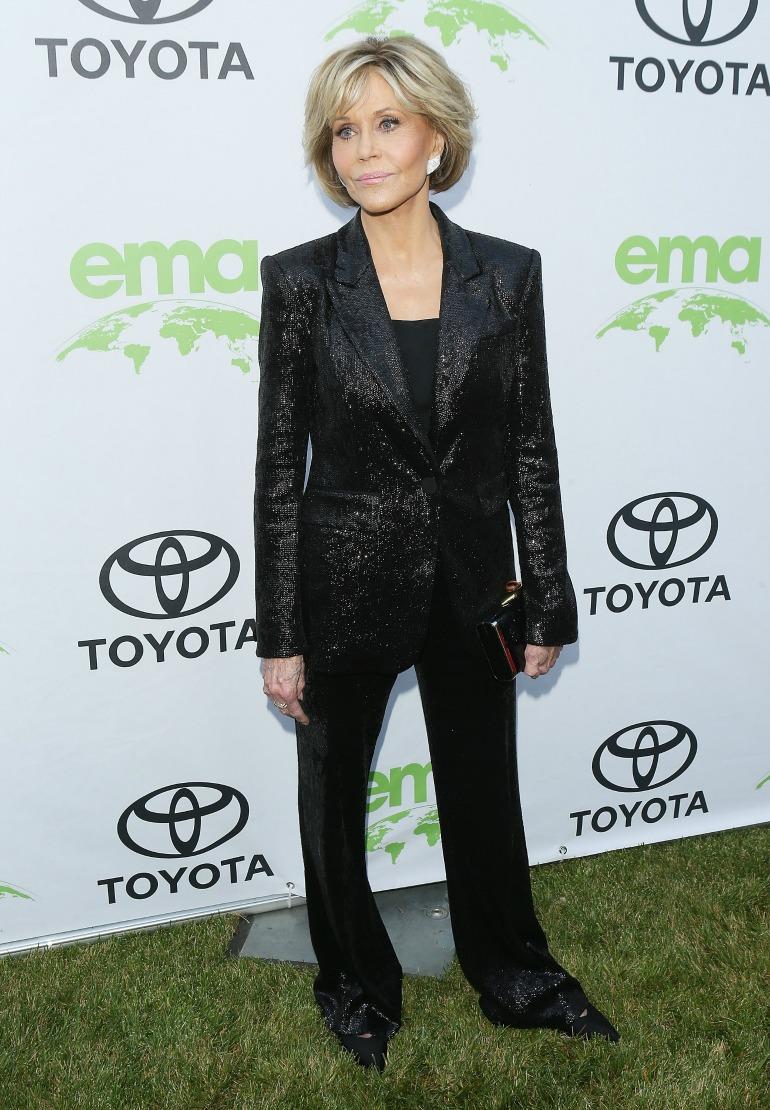 Jane Fonda looks stunning at the first annual Environmental Media Association Honors Benefit Gala on Saturday night.