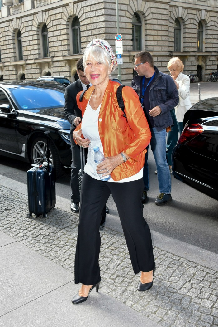 Helen Mirren berlin orange jacket