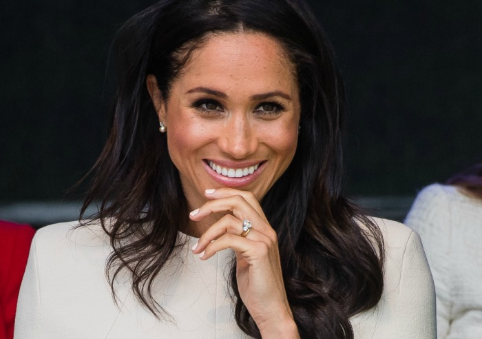 Meghan Markle Nearly Tumbles at Prince Harry's Cousin's Wedding