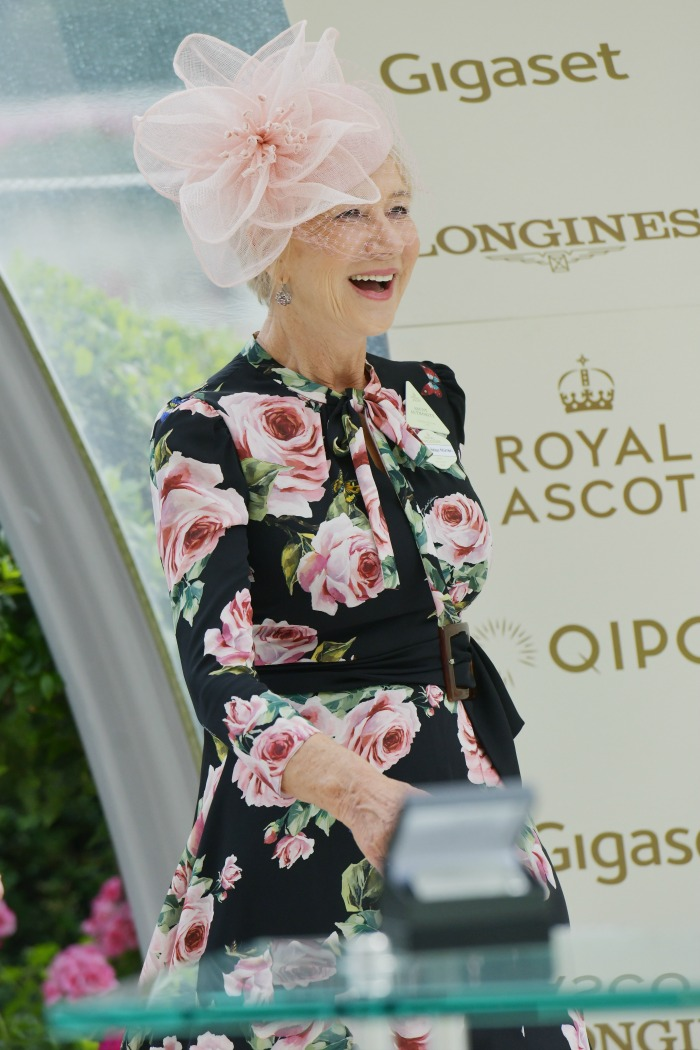 Actress Helen Mirren took to the Parade Ring to make presentations. Source: Getty.