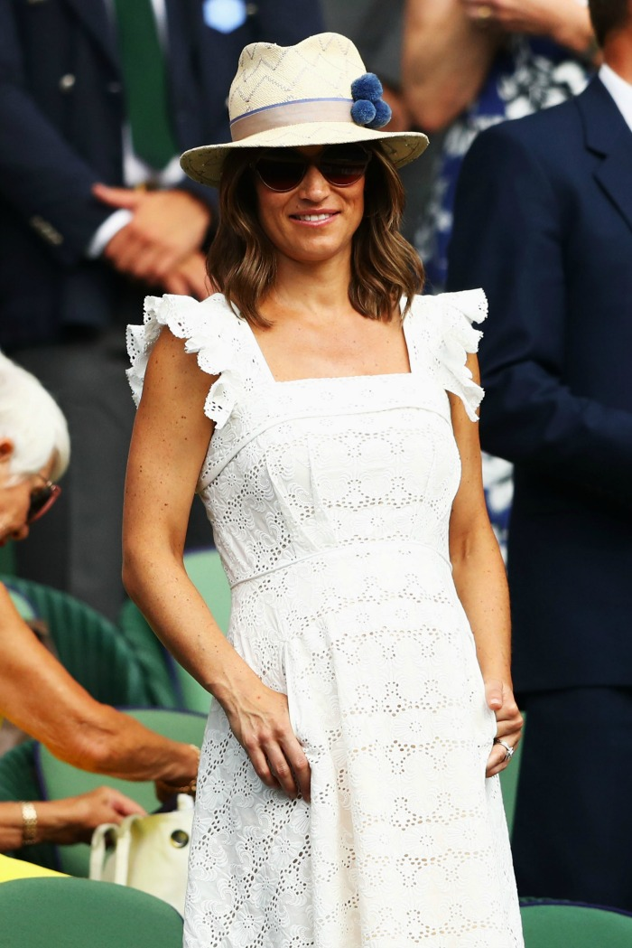 9cfefc616 Pippa Middleton channels mum Carole's look in white summer dress at ...