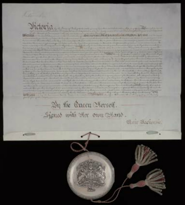 Queen Victoria signed the document on July 9, 1900. Source: Getty.