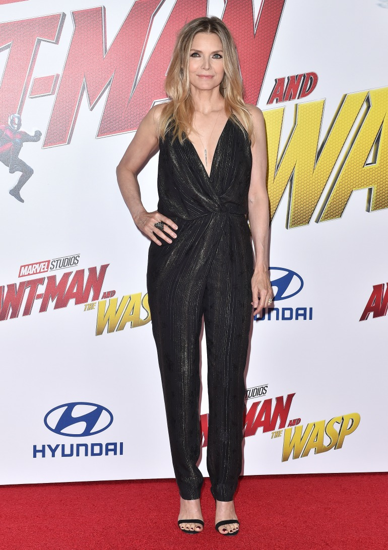 Michelle Pfeiffer looked sensational in the slinky black jumpsuit. Source: Getty
