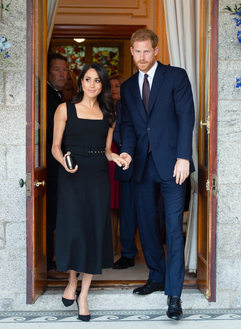 Meghan was joined by Prince Harry as she attended a garden party in Dublin. Source: Getty