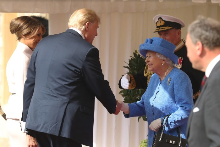 Donald Trump Snubbed By Prince Charles & Prince William During Royal Visit