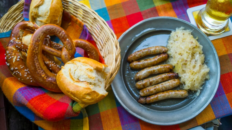 This popular German dish is commonly served as an accompaniment to sausages. Source: Getty