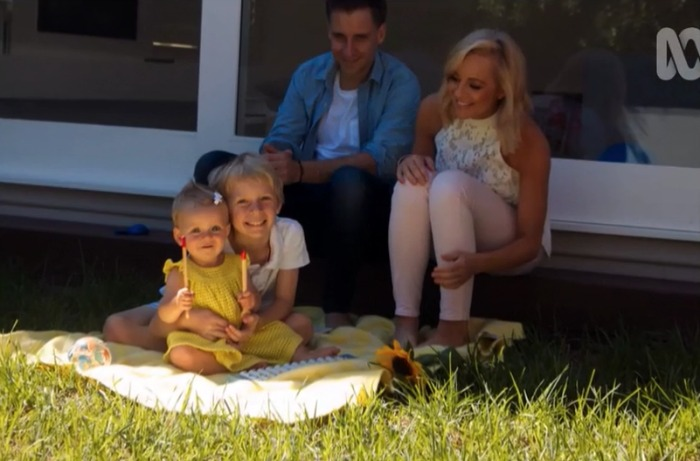 Carrie Bickmore has two children has has moved on with partner Chris. Source: ABC/Anh's Brush with Fame.