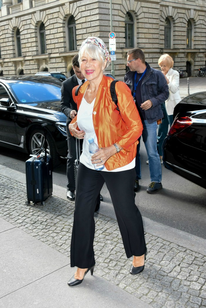 Helen Mirren shows how to jazz up old wardrobe staple.