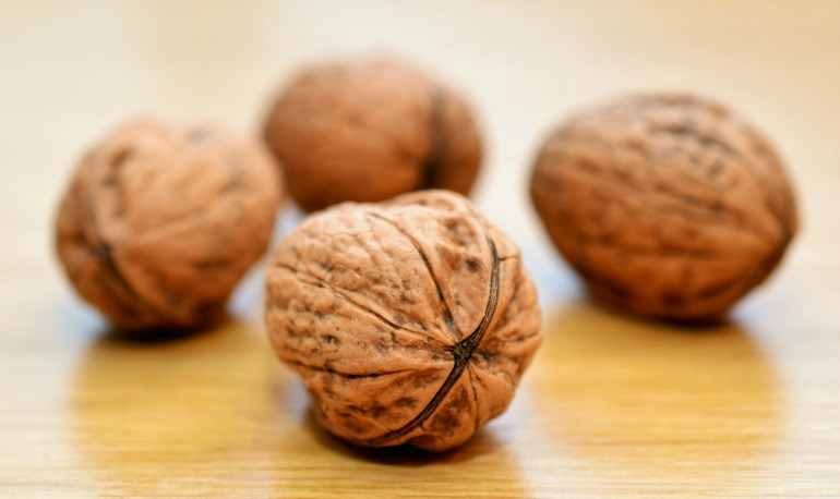 Walnuts have a striking resemblance to the brain.