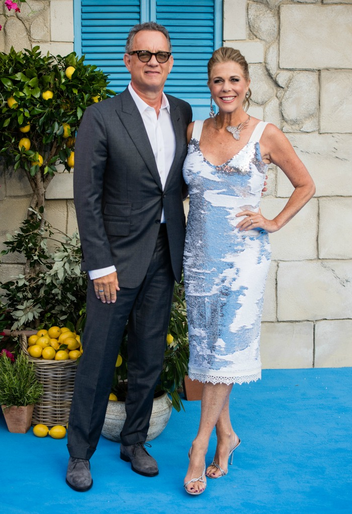 Rita Wilson glowed on the Blue Carpet for the UK premiere of Rita Wilson stunned in a sparkly blue and white dress at the UK premiere of the UK Premiere of Mamma Mia! Here We Go Again recently.Rita Wilson glowed on the Blue Carpet for the UK premiere of Rita Wilson stunned in a sparkly blue and white dress at the UK premiere of the UK Premiere of Mamma Mia! Here We Go Again recently.