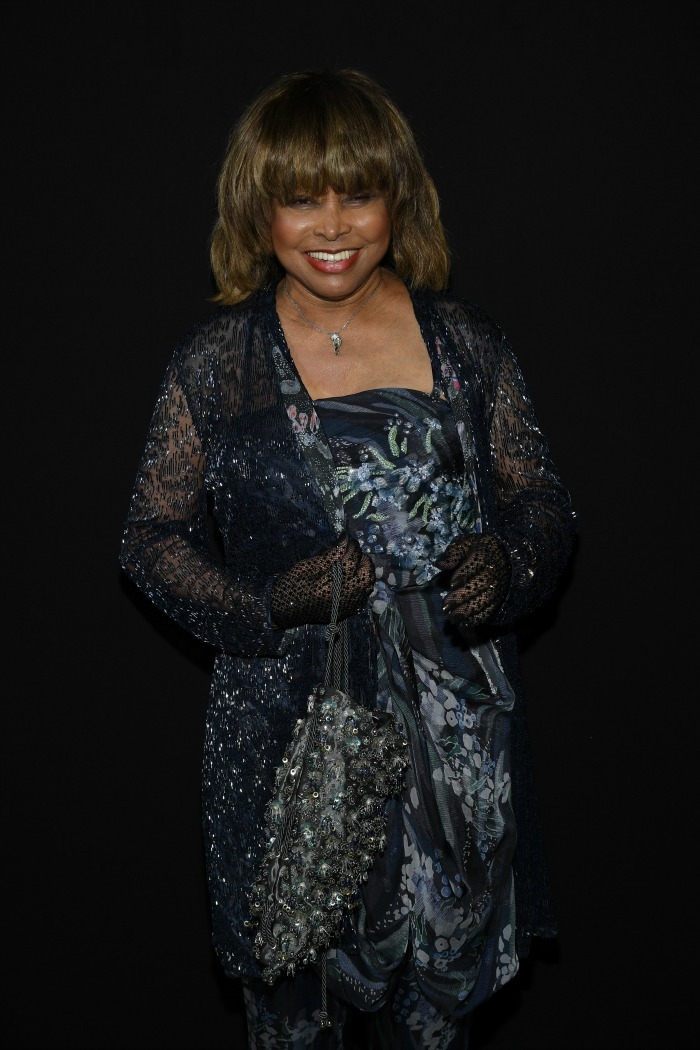 Tina Turner, hours before hearing the news, at the Giorgio Armani Prive Haute Couture Fall Winter 2018/2019 show. Source: Getty.