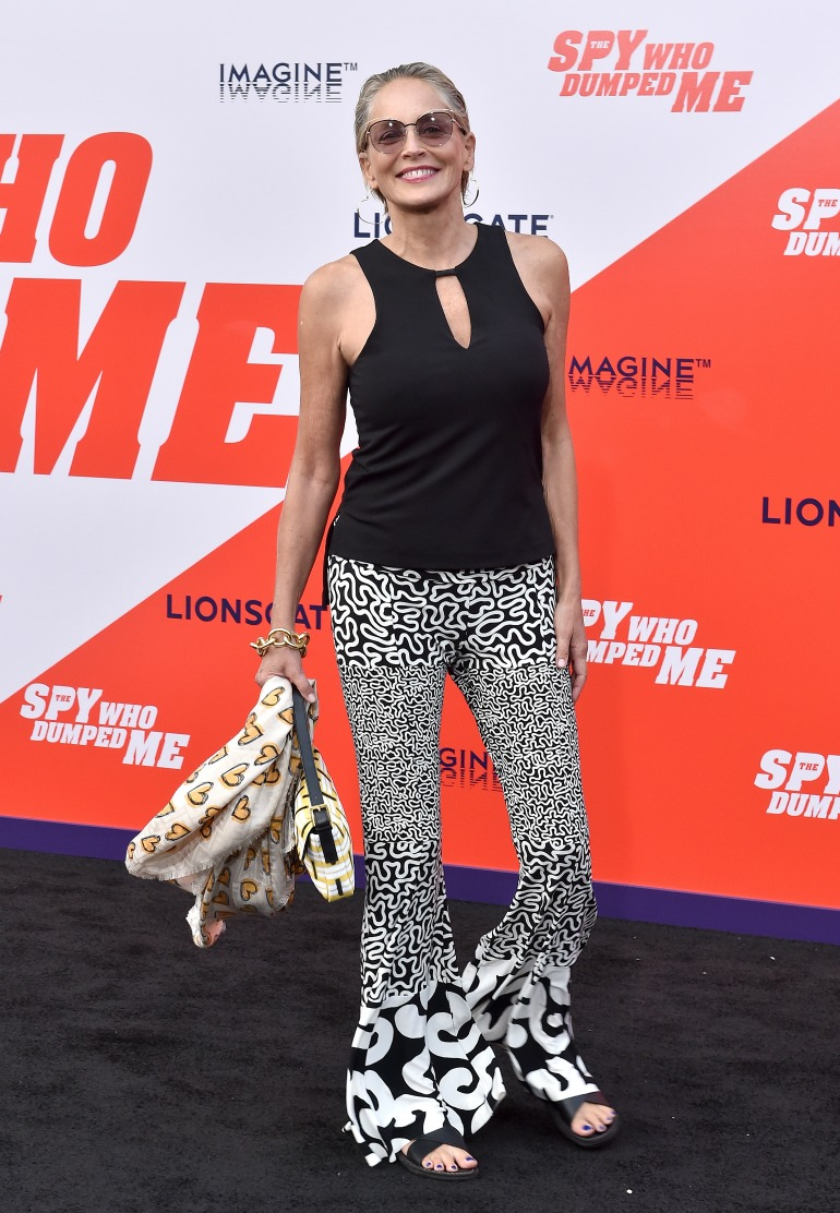 Sharon Stone attends the premiere of The Spy Who Dumped Me. Source: Getty