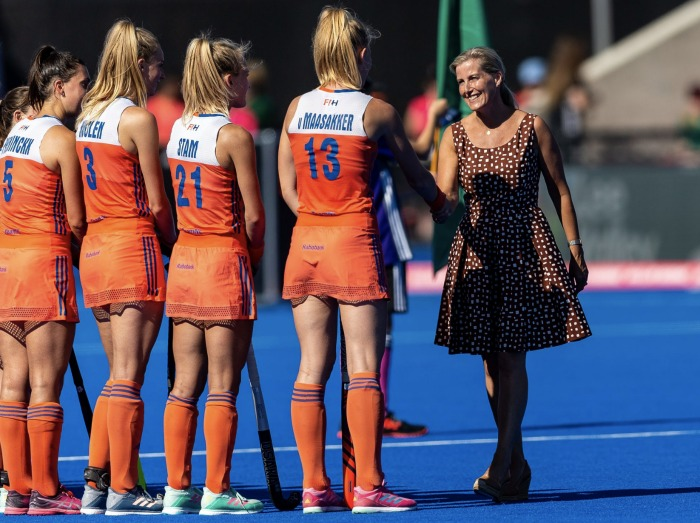 Sophie handed out medals to the winning Netherlands' team. Source: Twitter/The Royal Family.