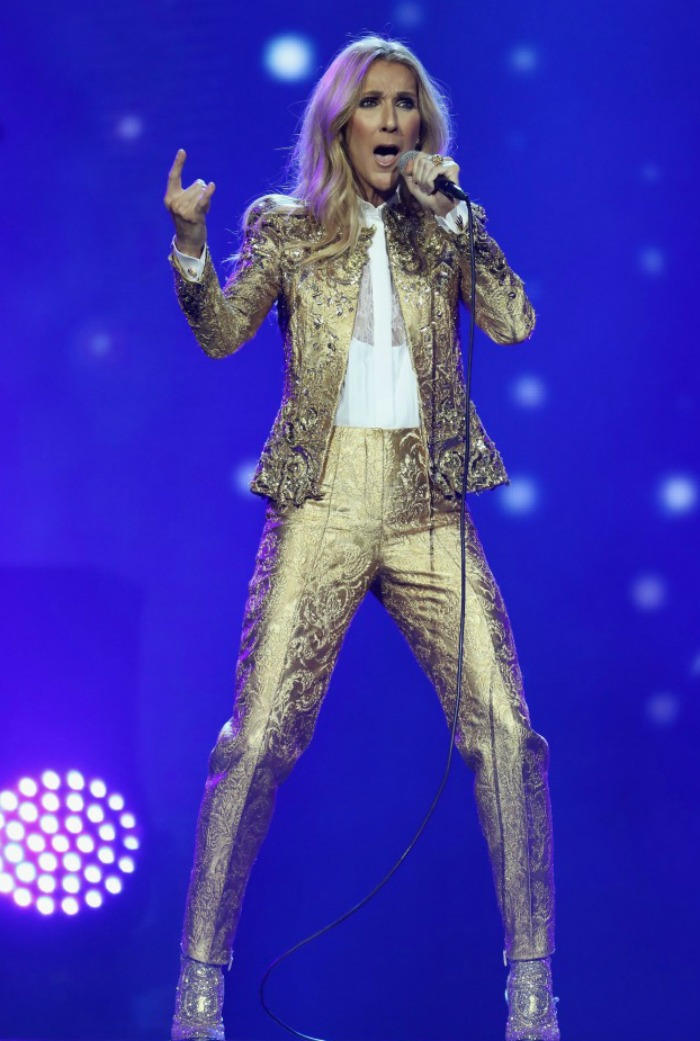 Celine Dion's fashion has also wowed audiences during her Australian tour.