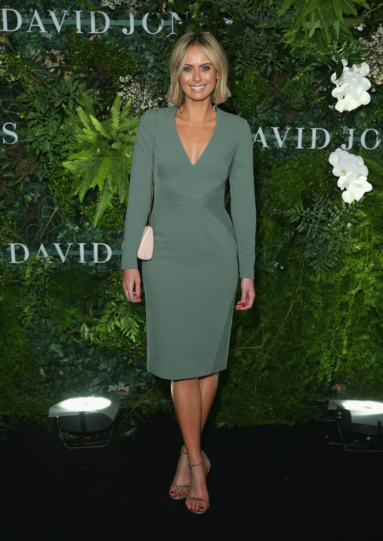 Sylvia Jeffreys opted for an eye-catching sleeved number for the occasion. Source: Getty