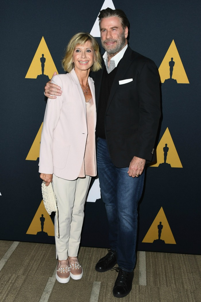 Olivia Newton-John and John Travolta paid homage to their Grease characters four decades later.