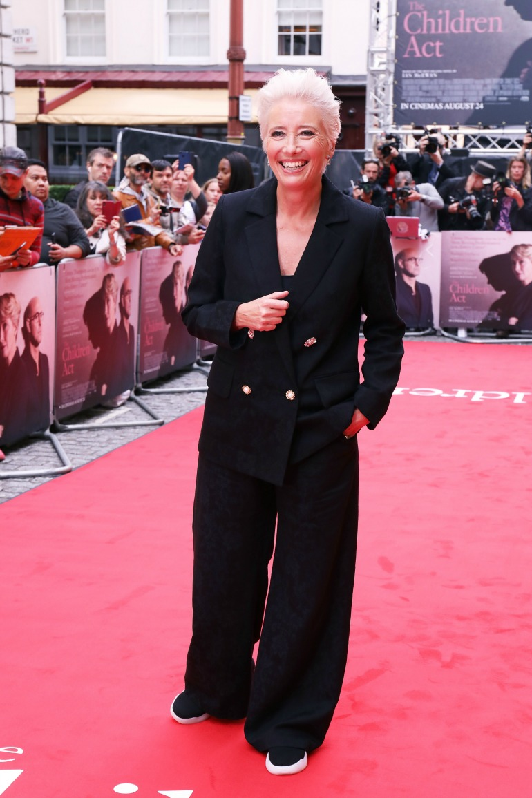 The talented actress showed off her edgy style in an oversized black blazer and trousers. Source: Getty