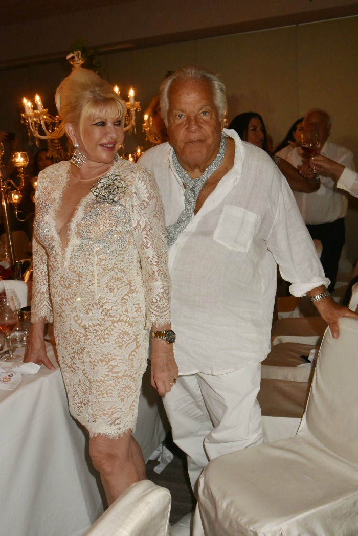 Ivana Trump took the plunge in white lace. Source: Getty.