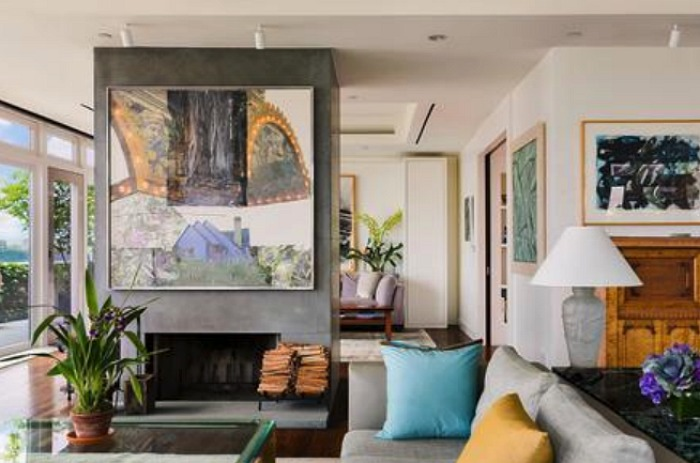 An artistic flair can be seen throughout. Source: Douglas Elliman Real Estate.