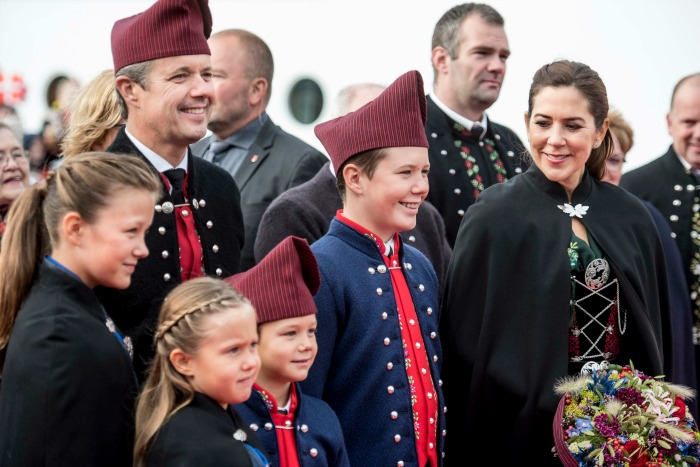 The Danish Crown Prince couple Frederik and Mary and their Isabella, Josephine, Vincent and Christian.