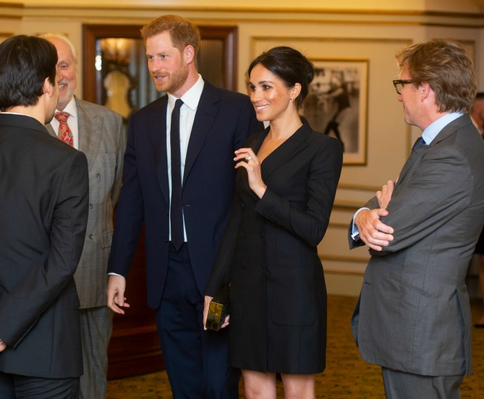 Both Meghan and Harry beamed with happiness. Source: Getty.