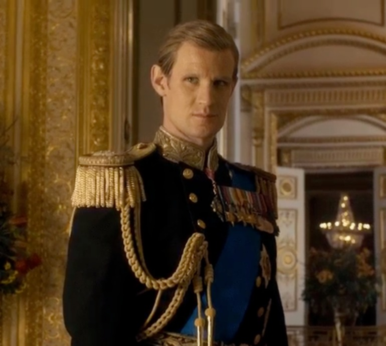 Matt Smith played a younger Prince Phillip in the first two seasons of The Crown.