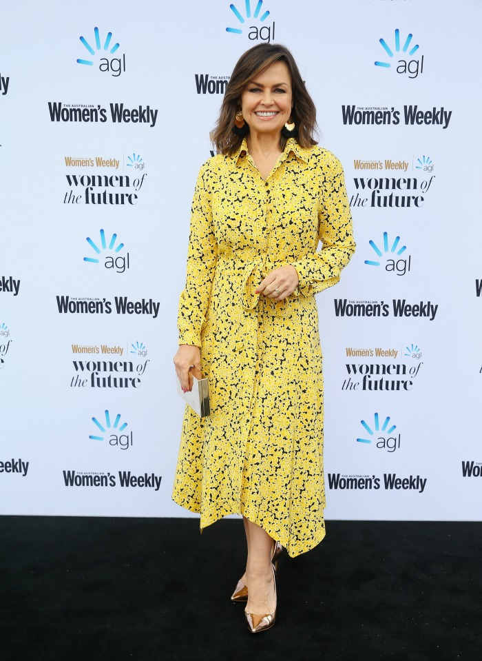 Lisa Wilkinson opted for a stylish yellow dress. Source: Getty.