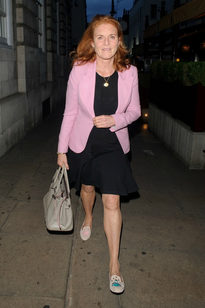Sarah Ferguson rocked a black mini for a night out on town last month.