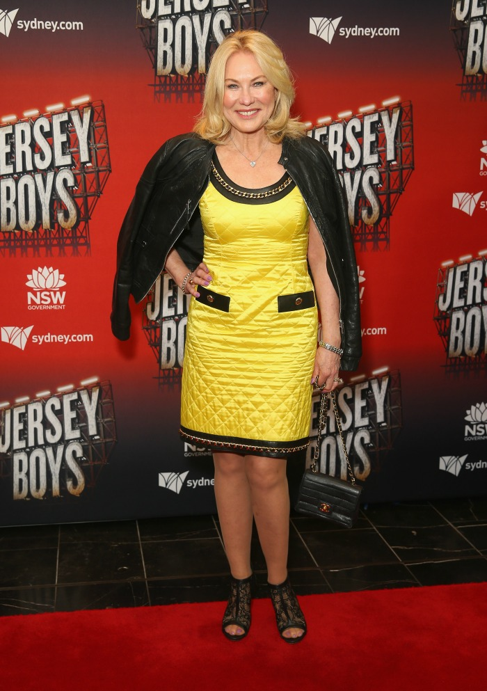 Kerri-Anne Kennerley donned a cute yellow number for the event.