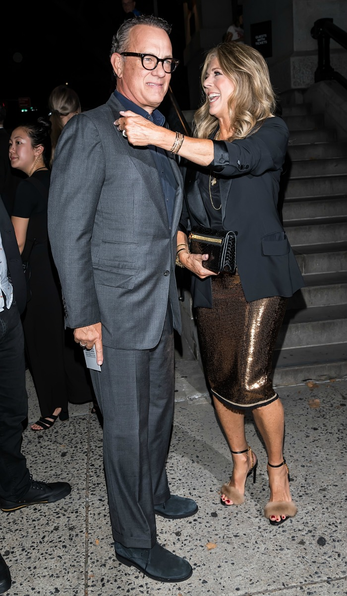 Tom Hanks and Rita Wilson shared a sweet moment. Source: Getty.