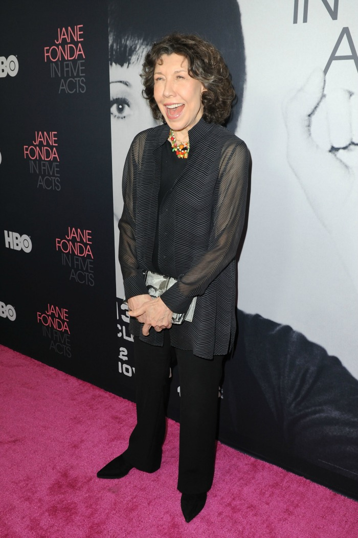 Lily Tomlin also attended the event to show support for her co-star.