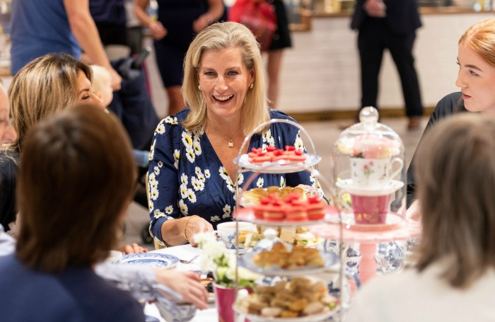 Sophie Wessex enjoyed a high tea during a visit to the Daniel Department Store.