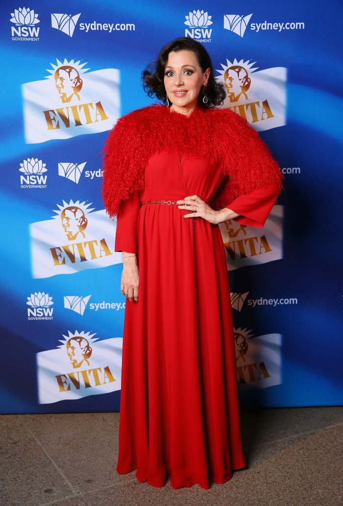 Tina Arena is one of the stars of Evita.